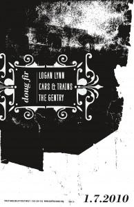 1/7/2010: DOUG FIR LOUNGE, PORTLAND: LOGAN LYNN, CARS & TRAINS, THE GENTRY!!!