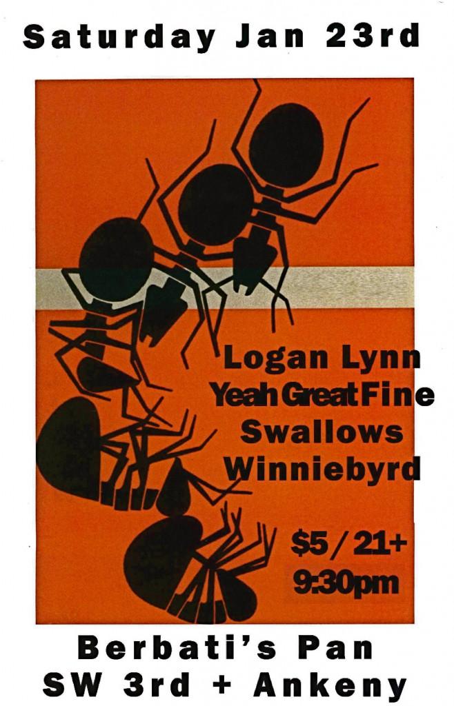 Logan Lynn performing at Berbati's in Portland on 1/23/2010!!!