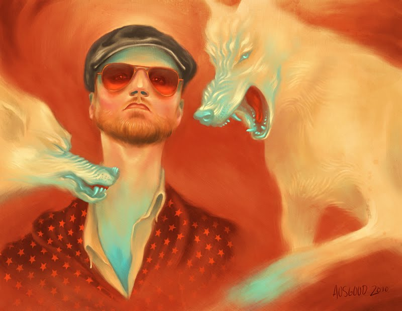 """Feed Me To The Wolves"" Logan Lynn Portrait by Painter Adam Osgood (2010)"